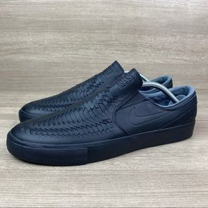 Nike SB Zoom Stefan Janoski Black Woven Slip On